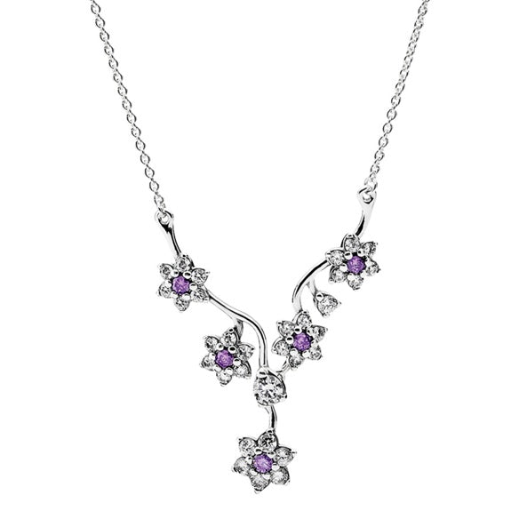 Forget Me Not Necklace PANDORA Jewelry