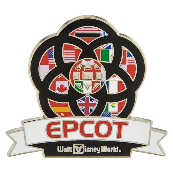 Epcot Flags Banner Pin