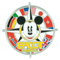 Epcot Mickey Flags Pin