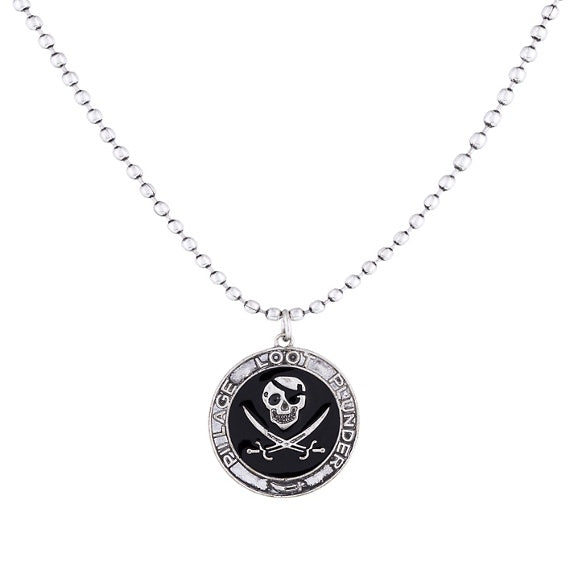 "Pirate Coin 19"" Necklace"