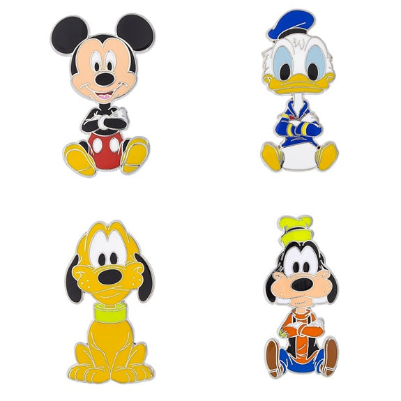 Mickey & Friends Big Head Pin Set