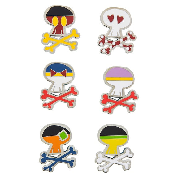 Disney Parks Sugar Skull Pin Set
