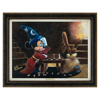 Mickey & Broom Giclee' by Blackmore