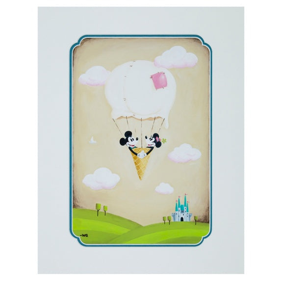 Ice Cream Flight Deluxe Print by Gay