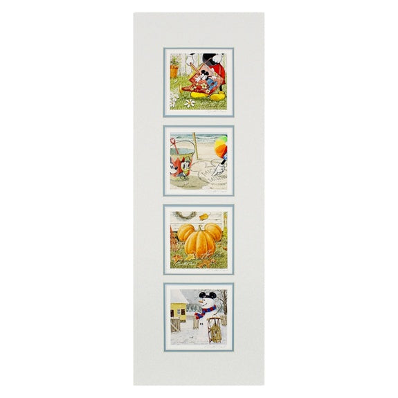 Mickey 4 Seasons Matted Print by Doss