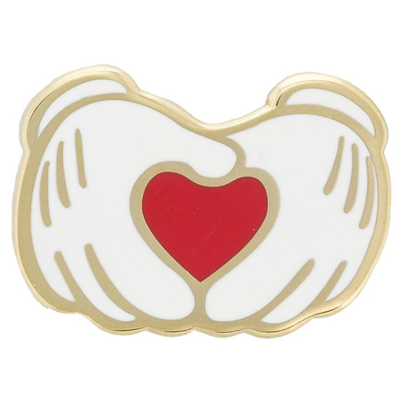 Mickey Heart Gloves Pin