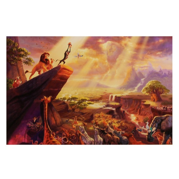 The Lion King on Canvas by Kinkade