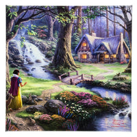 Snow White on Canvas 14x14 by Kinkade
