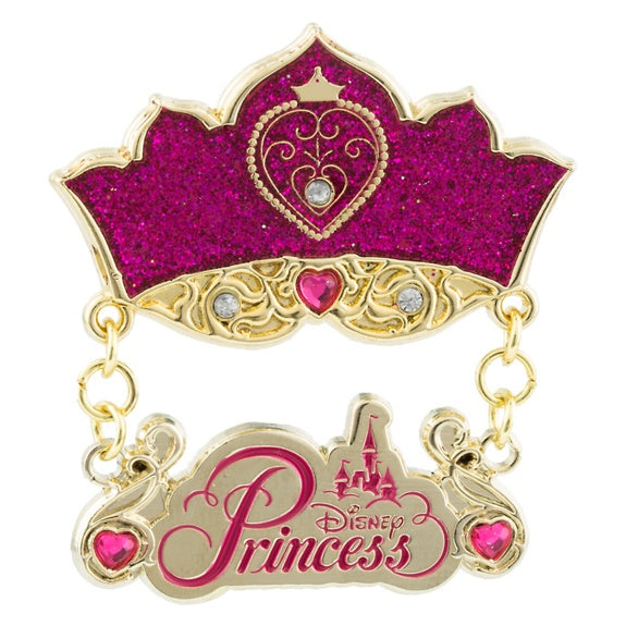 Disney Princess Jeweled Crown Dangle Pin