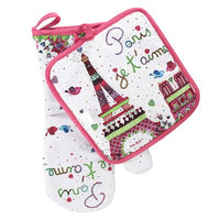 Paris je t'aime Oven Mitt & Pot Holder