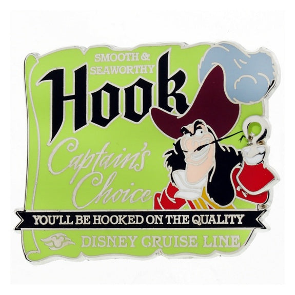 Disney Cruise Line Captain Hook Pin