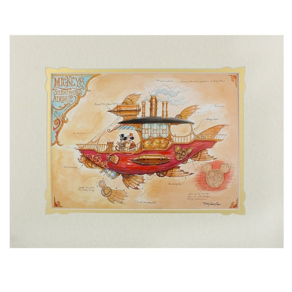 Mickey's Airship Deluxe Print by Page