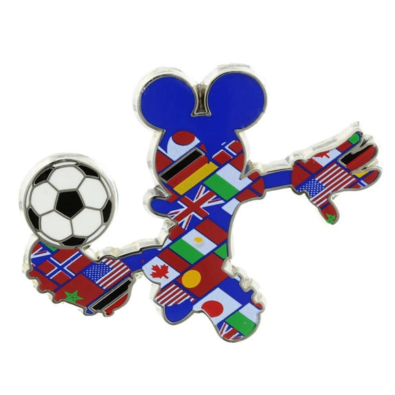 Mickey Flags Soccer Pin