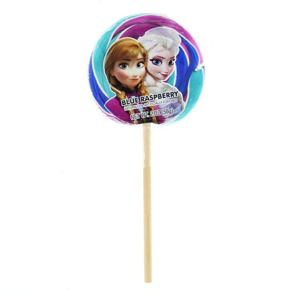 Anna & Elsa Blue Raspberry Lollipop