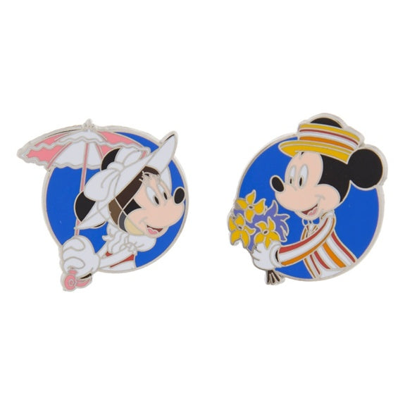 Mickey & Minnie Mary Poppins Pin Set