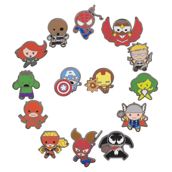 Marvel Kawaii Art Mini Mystery Pins