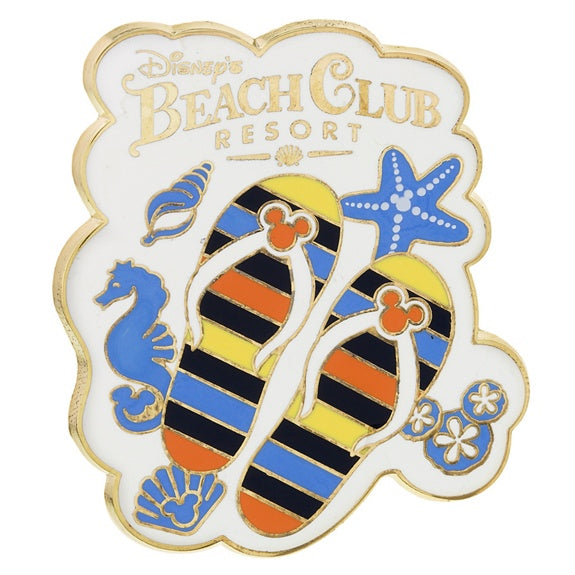 Disney's Beach Club Flip Flops Pin