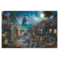 Pirates on Canvas 18x27 by Kinkade