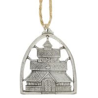 Norway Pewter Gol Stave Church Ornament