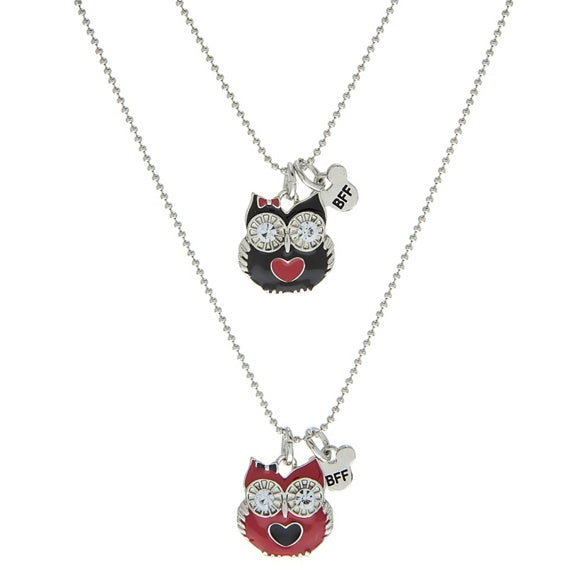"Owl BFF 19"" Necklaces - Set of 2"