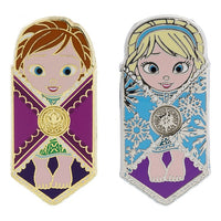 Anna & Elsa Babies in a Blanket Pin Set