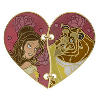 Belle & Beast Stitched Half Heart Pin