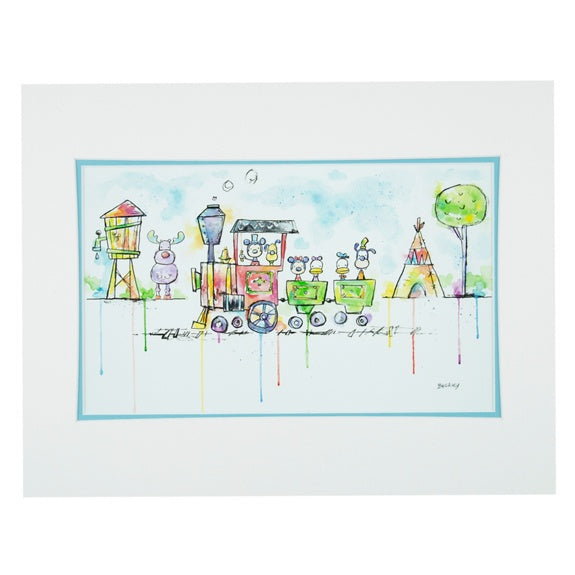 WDW Railroad Deluxe Print by Buckley