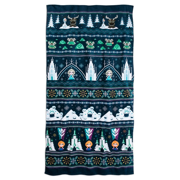 Frozen Cozy Knit Art Beach Towel