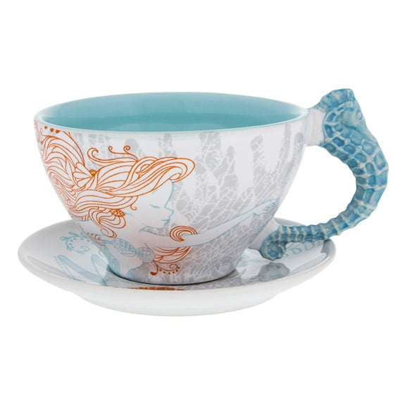 Ariel Nautical Teacup & Saucer