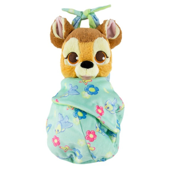 Baby Bambi in a Blanket Pouch Plush 10""