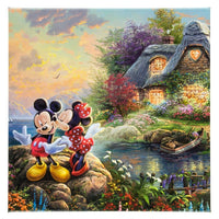 Mickey & Minnie Cove 14x14 by Kinkade