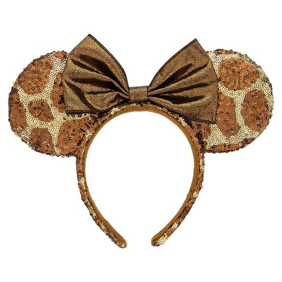 Minnie Bow Giraffe Print Ears Headband