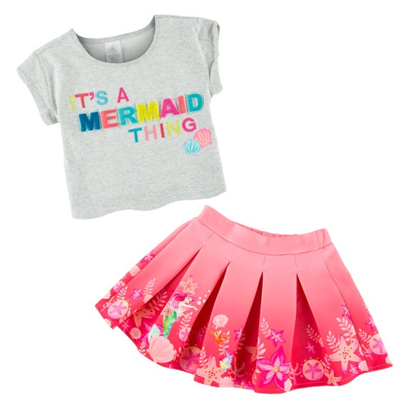 Ariel Youth Top & Skirt Set