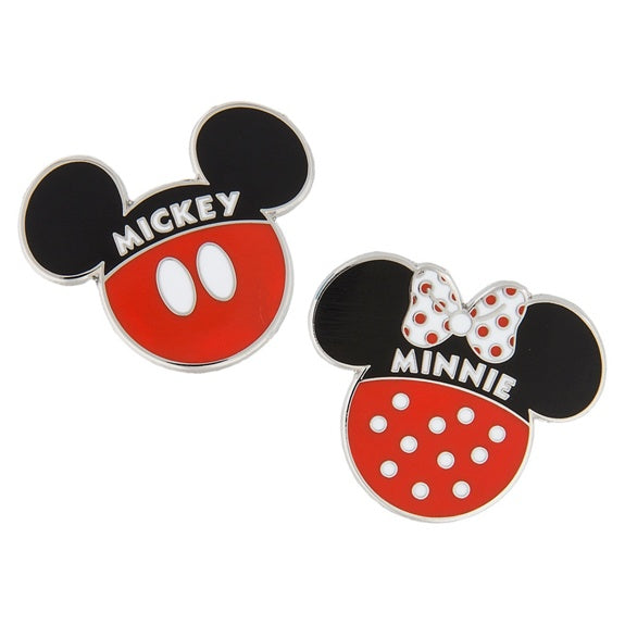Mickey & Minnie Icon Pin Set