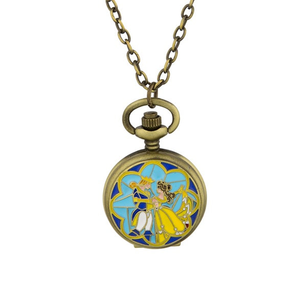 Beauty & the Beast Pocket Watch Necklace