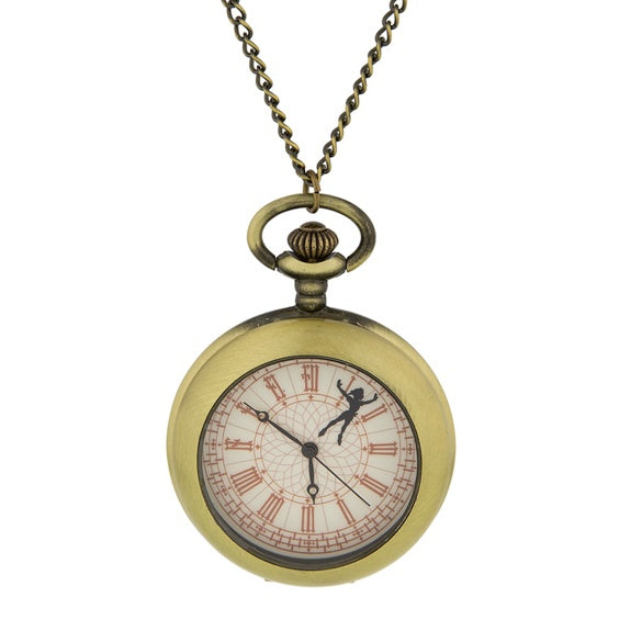Peter Pan Pocket Watch Necklace