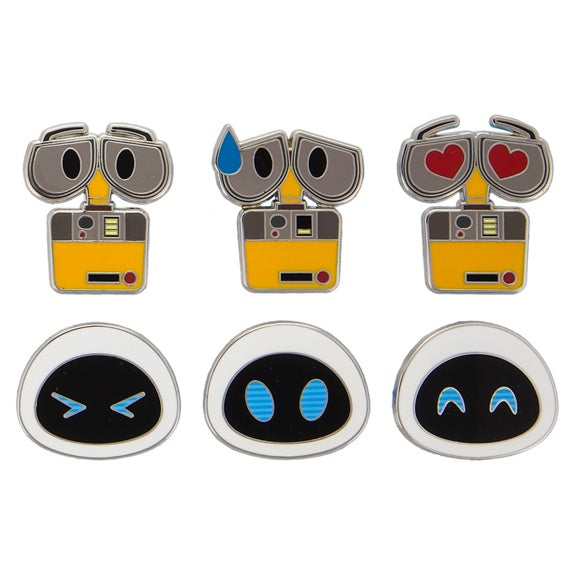 Emoji Wall-E & Eve Pin Set