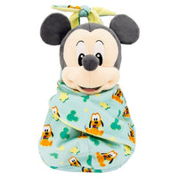 Baby Mickey in Blanket Pouch Plush 10""