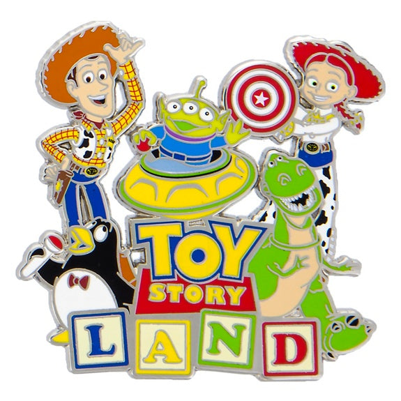 Toy Story Land Woody & Friends Pin
