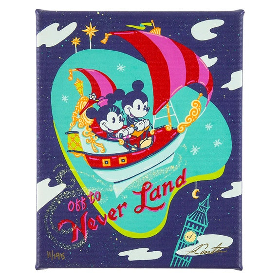 Off to Neverland Canvas Wrap by Coulter