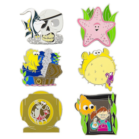 Finding Nemo Pins - Set of 6