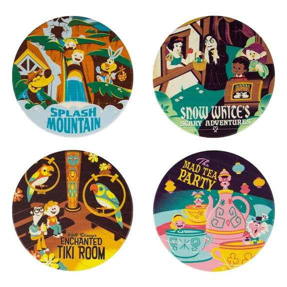 Attractions Poster Coasters - Set of 4