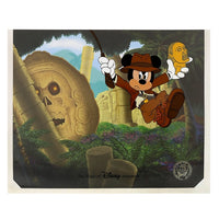 Mickey as Indiana Jones Ink & Paint Cel