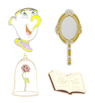 Disney Parks Beauty & The Beast Flair Pin Set
