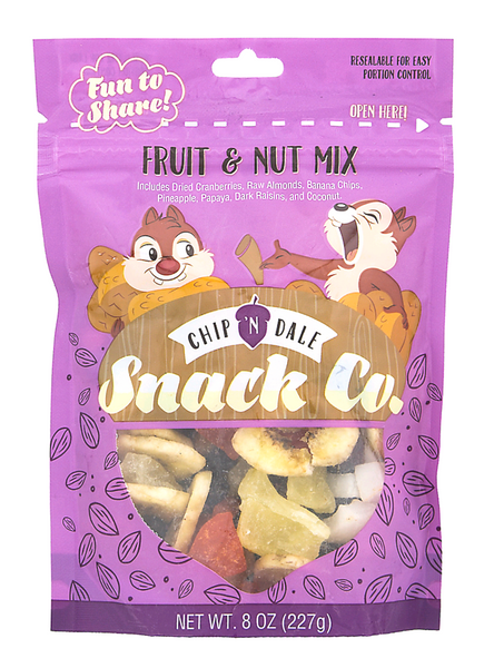 Disney Parks Chip and Dale Fruit & Nut Mix