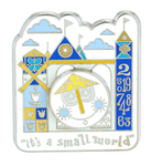 Disney Parks It's a Small World Clock Pin