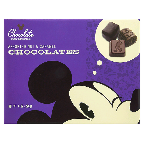 Disney Parks Mickey Nut &  Caramel Chocolates 8oz