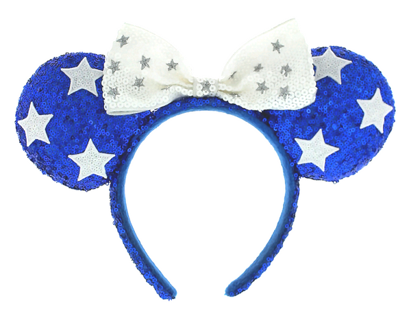 Minnie Bow Stars Sequined Ears Headband