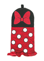 Disney Parks Minnie Mouse Bow Polka Dots Oven Mitt Potholder