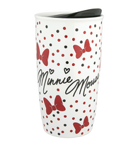 Disney Parks Bow Crazy Minnie Coffee Tumbler